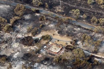 Wildfires across Tasmania