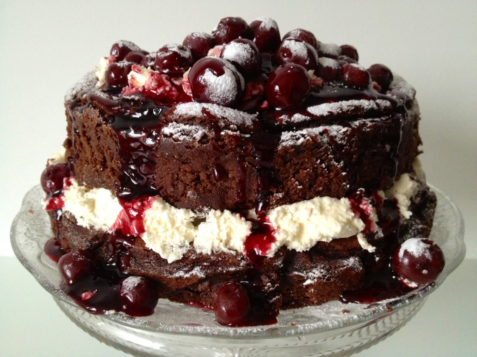 Flourless Chocolate Cake With Sour Cream