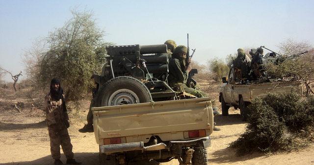Touareg militants near Timbuktu, Mali